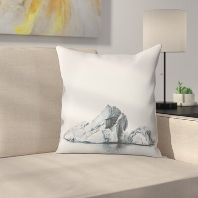 Luke Gram Jokulsarlon Iceland Throw Pillow Size: 16 x 16