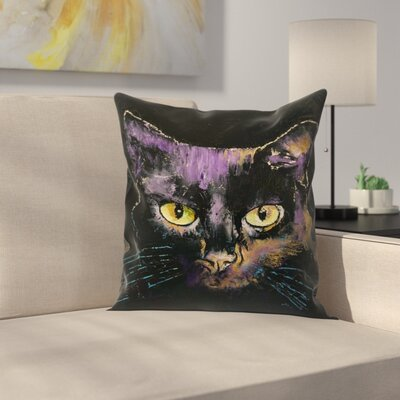 Michael Creese Shadow Cat Throw Pillow Size: 18 x 18