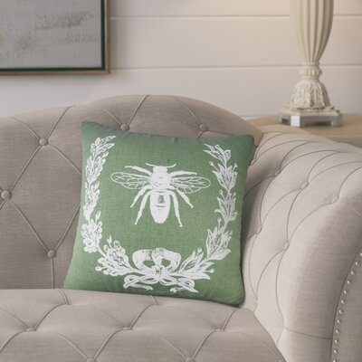 Tiago Throw Pillow Color: Green