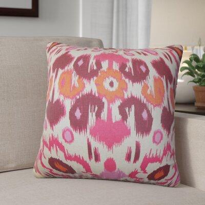 Bhatnagar Ikat Cotton Throw Pillow Cover Color: Pink