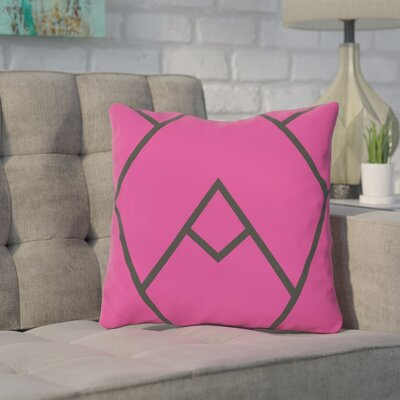 Barbagallo Polyester Throw Pillow Size: 18 H x 18 W, Color: Pink