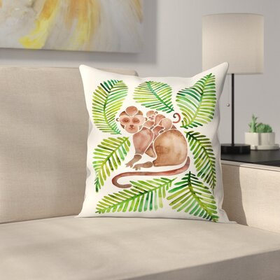 Monkeys Throw Pillow Size: 14 x 14