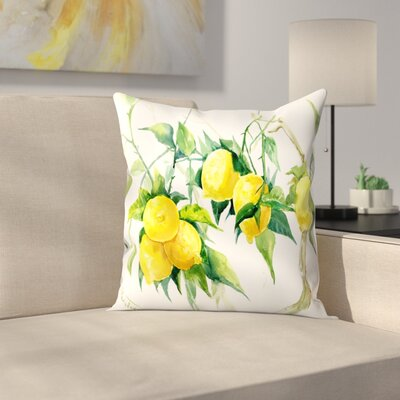 Suren Nersisyan Lemon Tree 1 Throw Pillow Size: 14 x 14