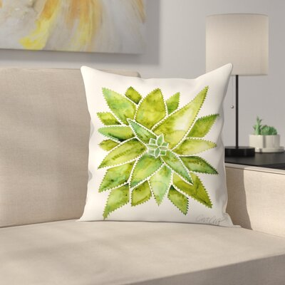 Aloevera Throw Pillow Size: 14 x 14