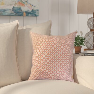 Conrad Geometric Cotton Throw Pillow Color: Blush, Size: 18 x 18