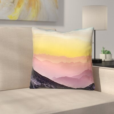 Thang Pastel Landscape Throw Pillow Size: 26 x 26