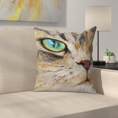 Michael Creese Persian Cat Throw Pillow Size: 14 x 14