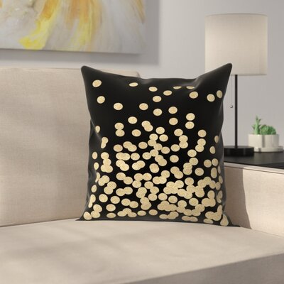 Charlotte Winter Glitter Dots Throw Pillow Size: 18 x 18