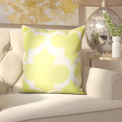 Clyburn 100% Cotton Throw Pillow Color: Green, Size: 20 x 20