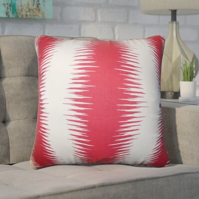 Harrell Geometric Square Cotton Throw Pillow Cover Color: Red