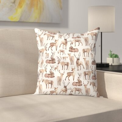Elena ONeill Deer Throw Pillow Size: 16 x 16