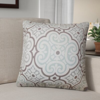 Robb Geometric Cotton Throw Pillow Color: Blue