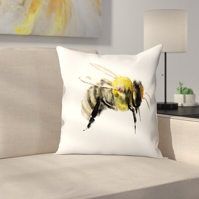 Suren Nersisyan Bumblebee 1 Throw Pillow Size: 16 x 16