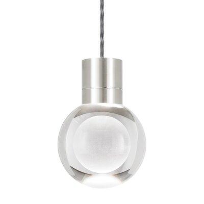 Gossard 1-Light Mini Pendant Finish: Satin Nickel, Cord Color: Black/White