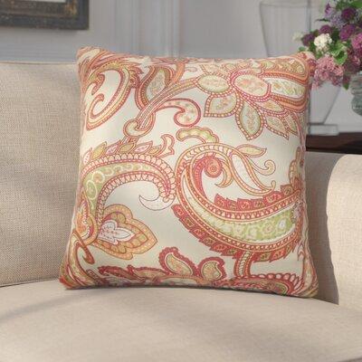 Grisella Floral Cotton Throw Pillow Color: Orange