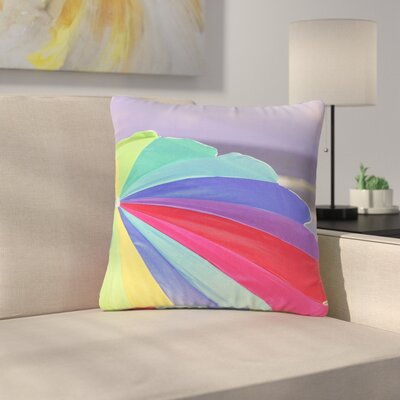 Angie Turner Beach Umbrella Coastal Photography Outdoor Throw Pillow Size: 18 H x 18 W x 5 D