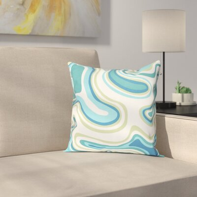 Buenrostro Agate Geometric Throw Pillow Size: 26 H x 26 W, Color: Teal
