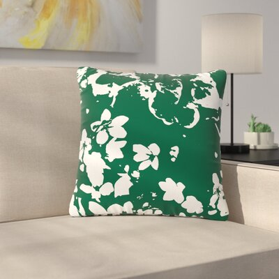 Love Midge Helena Floral Modern Outdoor Throw Pillow Size: 18 H x 18 W x 5 D, Color: Green/White