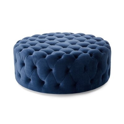 Koffler Cocktail Ottoman Upholstery: Navy Blue