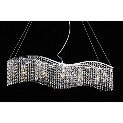 Carbon 5-Light Crystal Chandelier