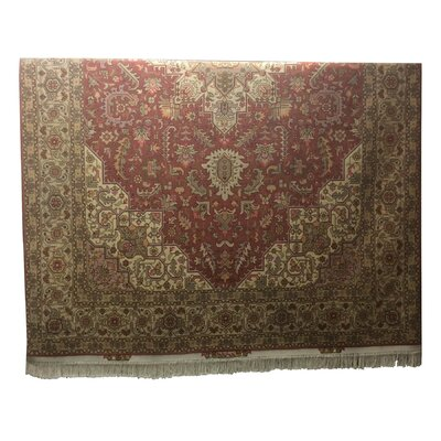 One-of-a-Kind Lutz Hand-Knotted Wool/Silk Pink/Rose Area Rug