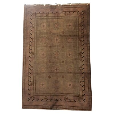 One-of-a-Kind Perdue Hand-Knotted Wool Green Area Rug