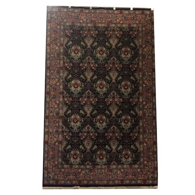 One-of-a-Kind Lydon Hand-Knotted Wool Black Area Rug
