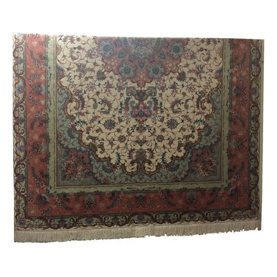 One-of-a-Kind Lutz Hand-Knotted Beige/Rose Area Rug
