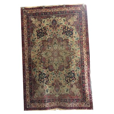 One-of-a-Kind Magana Hand-Knotted Wool Red/Beige Area Rug