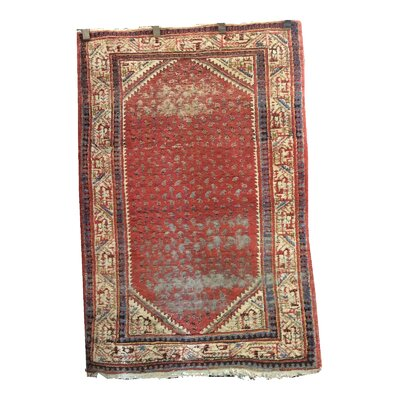 One-of-a-Kind Vishwakarma Vintage Hand-Knotted Wool Red Rust Area Rug