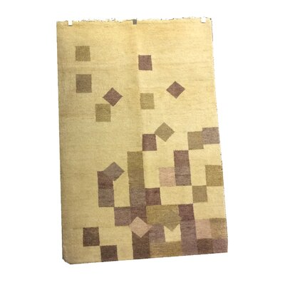 One-of-a-Kind Kohl Hand-Knotted Wool Tan/Ivory Area Rug