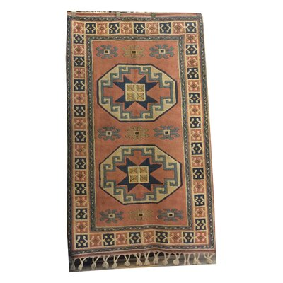 One-of-a-Kind Pepin Hand-Knotted Wool Brown/Blue Area Rug