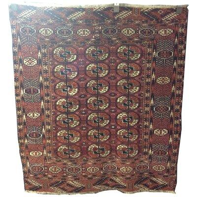 One-of-a-Kind Peralez Hand-Knotted Wool Red/Rust Area Rug
