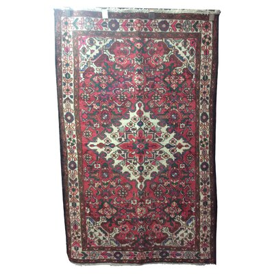 One-of-a-Kind Warnock Tribal Hand-Knotted Wool Red Area Rug