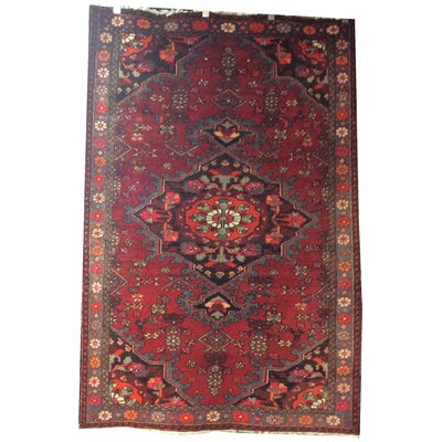 One-of-a-Kind Wang Hand-Knotted Wool Red/Black Area Rug