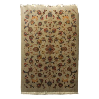 One-of-a-Kind Drummaul Hand-Knotted Ivory Area Rug