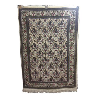 One-of-a-Kind Lydon Hand-Knotted Wool Ivory/Gray Area Rug