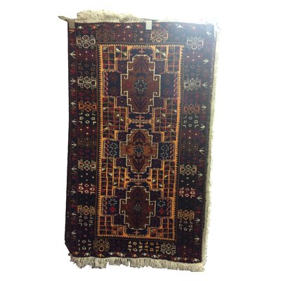One-of-a-Kind Pfannenstiel Tribal Hand-Knotted Wool Brown/Blue Area Rug