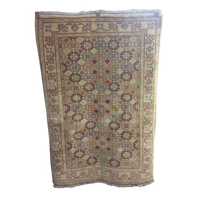 One-of-a-Kind Luzerne Hand-Knotted Wool Beige/Rust Area Rug