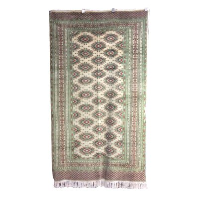 One-of-a-Kind Percival Hand-Knotted Wool Ivory Area Rug
