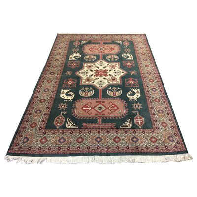 One-of-a-Kind Xie Arak Hand-Knotted Wool Green Area Rug