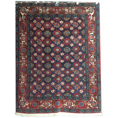 One-of-a-Kind Lutz Hand-Knotted Wool Red/Blue/Rust Area Rug