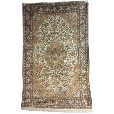 One-of-a-Kind Lusher Hand-Knotted Wool Green Area Rug