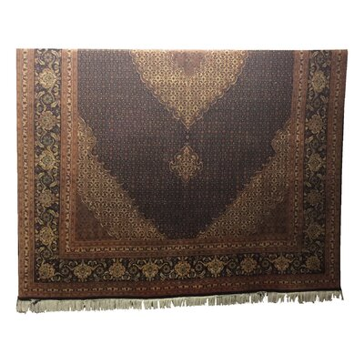 One-of-a-Kind Lutz Hand-Knotted Black/Brown Area Rug