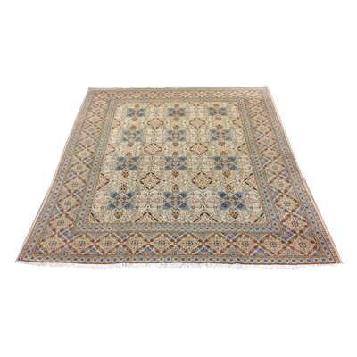 One-of-a-Kind Luyster Hand-Knotted Wool Ivory/Blue Rug