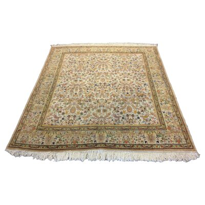 One-of-a-Kind Lutz Hand-Knotted Wool Beige Area Rug