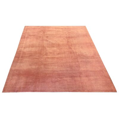 One-of-a-Kind Fielden Hand-Knotted Wool TerracottaArea Rug
