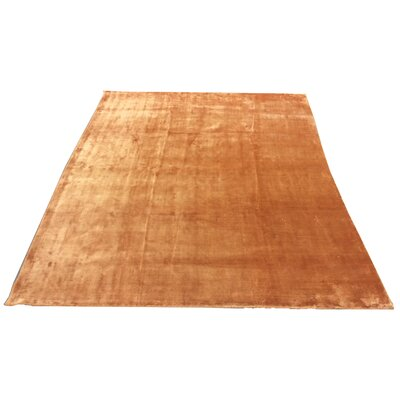 One-of-a-Kind Fielden Hand-Knotted Wool Orange Area Rug