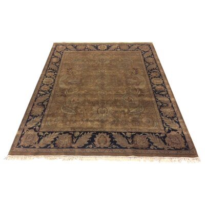 One-of-a-Kind Lybarger Hand-Knotted Wool Brown/Black Area Rug