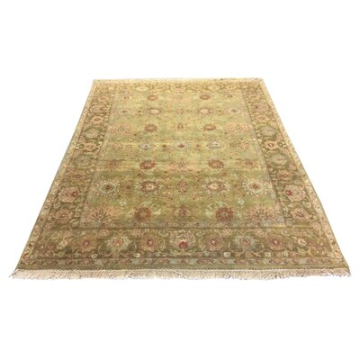 One-of-a-Kind Drumsill Hand-Knotted Wool Green Area Rug